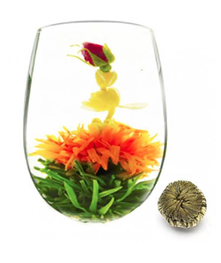 image fleur de thé baiser